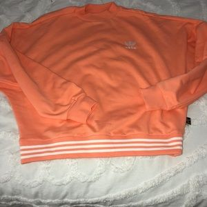 Adidas orange pullover—NEVER WORN
